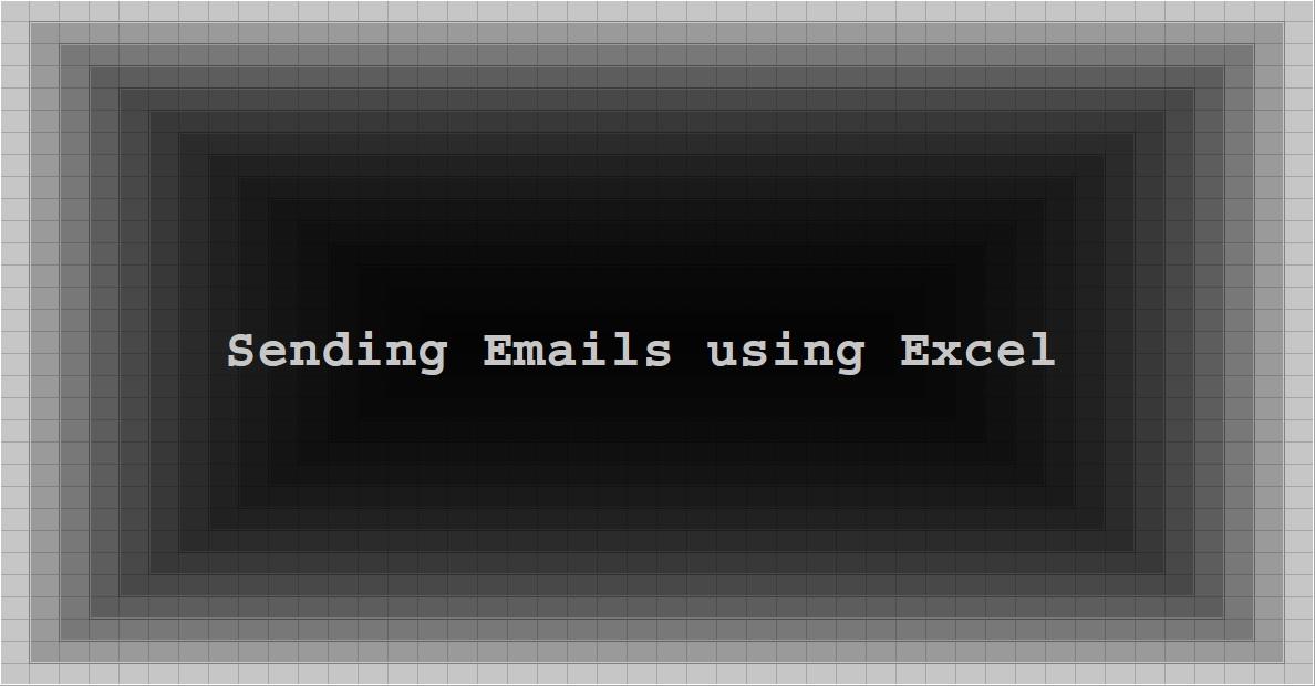 Sending Emails using Excel