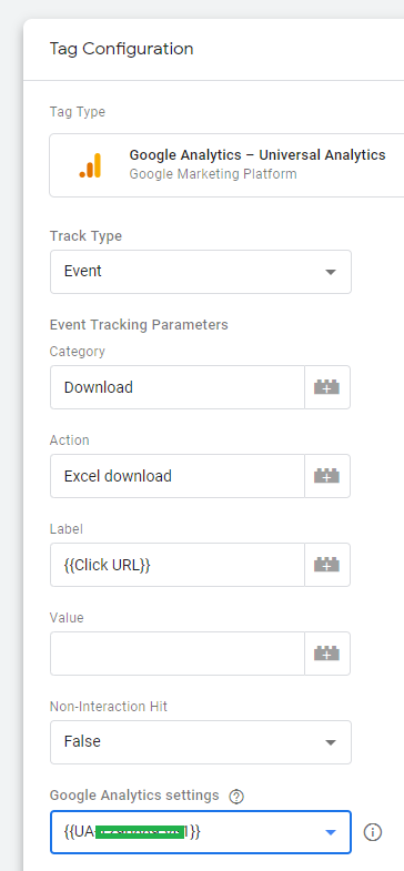 A google tag manager tag to track excel downloads in google analytics