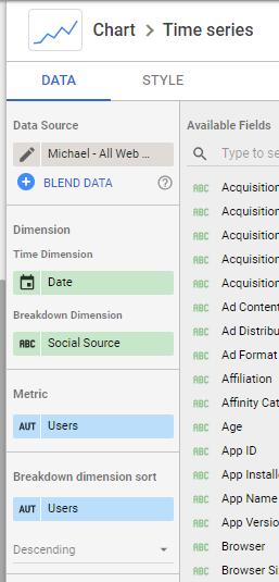 How to create a Social Media dashboard in Google Data Studio