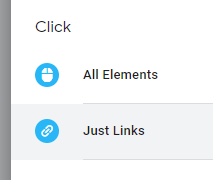 Just links clicks in Google Tag Manager.