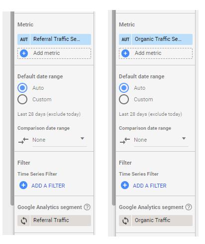 How to compare Google Analytics Segments by blending data in Google Data Studio
