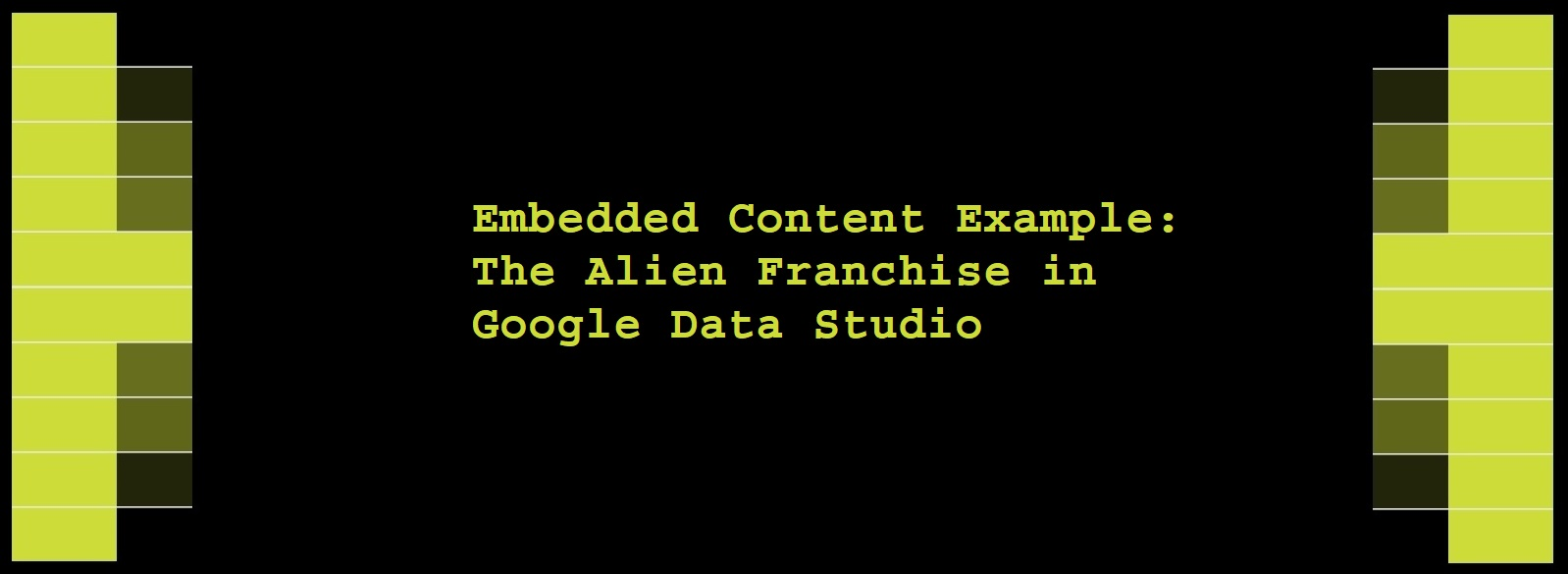 The Alien Franchise in Google Data Studio