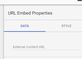 Adding a external content URL in the report.