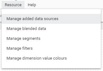Adding Data sources in Data Studio.
