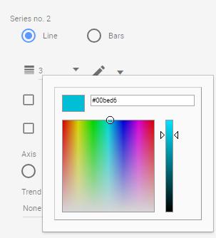 Adjusting colour in Data Studio