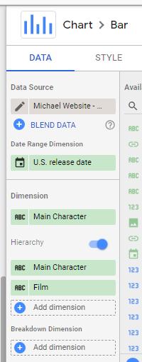 new features in Data Studio