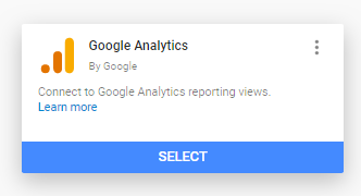 Select Google Analytics as a Data Source