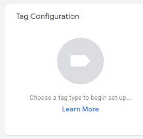 Click to configure a new tag.