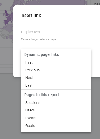 Inserting a dynamic page link in Google Data Studio