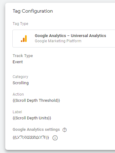 Create a Scroll Depth Google Analytics tag in Google Tag Manager which we will use to measure Page Scrolling in Google Data Studio