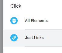 Trigger type just links in google tag manager