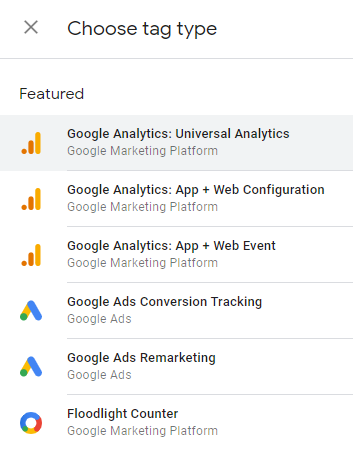 create a tag and then choose the 'Google Analytics: Universal Analytics' tag type in google tag manager GTM