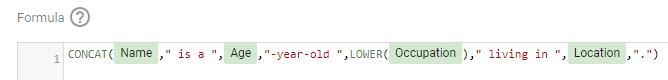 Using the CONCAT function in google data studio