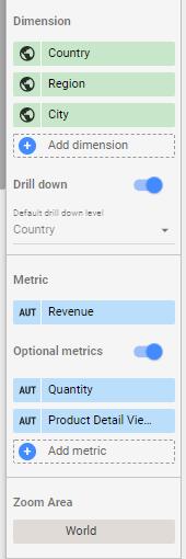 the data tab in google data studio