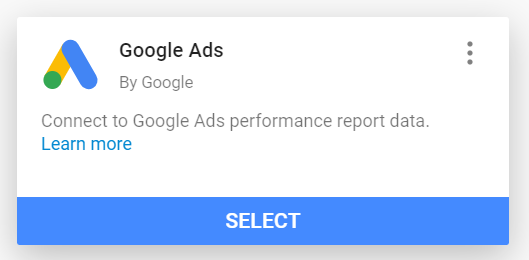 Adding Google Ads as a data source