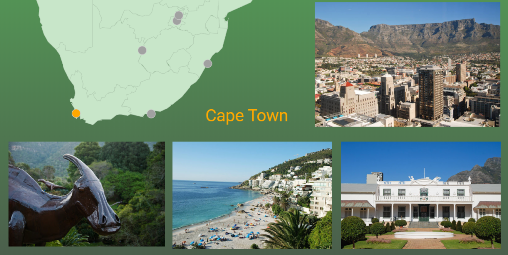 Cape Town selected as part of the interactive map in Google Data Studio