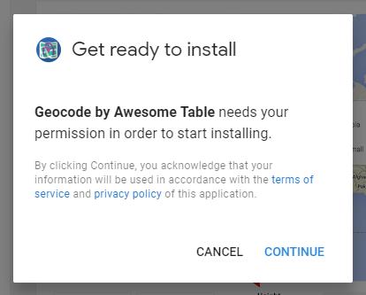 installing geocode