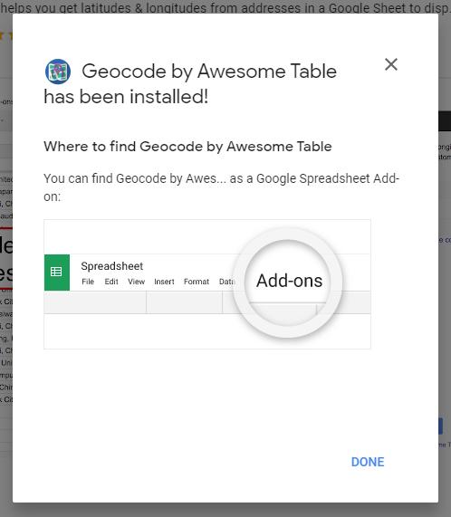 geo code installed