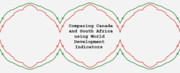Comparing Canada and South Africa using World Development Indicators