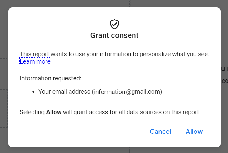 The person will need to allow and give consent before the content can be personalized for them.