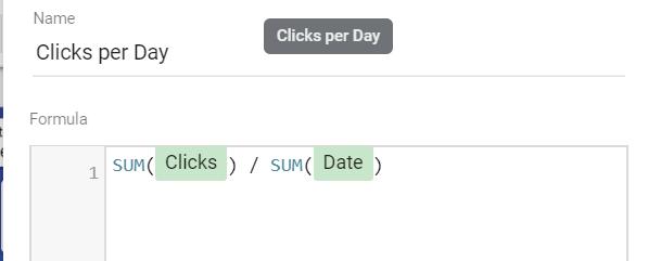 Average Clicks per Day = SUM(Clicks) / SUM(Date)