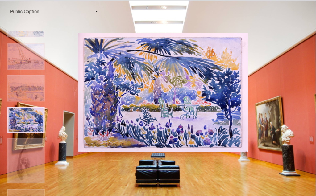painting being displayed in the virtual Art Gallery in Google Data Studio