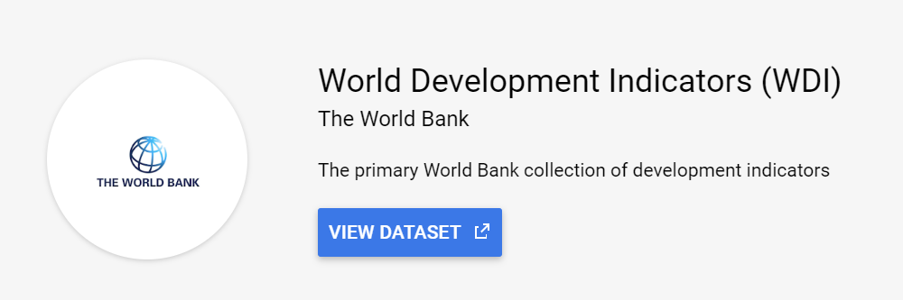 The World Bank World Development Indicators public dataset
