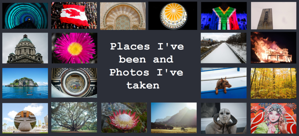 Places I've been and Photos I've taken