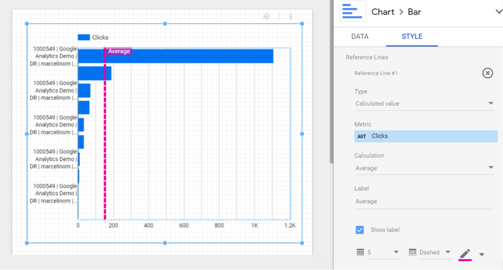 Using Vertical Rerence Lines on a Horizontal Bar Chart in Google Data Studio