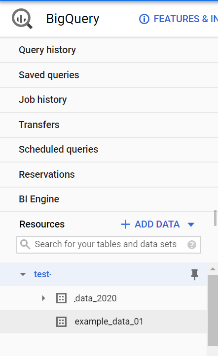 datasets in bigquery