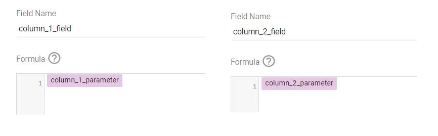 creating a parameter in google data studio